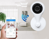 Two-way audio 360° rotatable wireless smart security camera