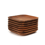 Wooden serving tray plate