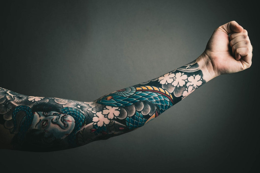 A Colorful Sleeve Tattoo