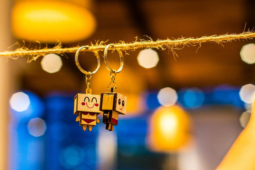 two key-chains hanging