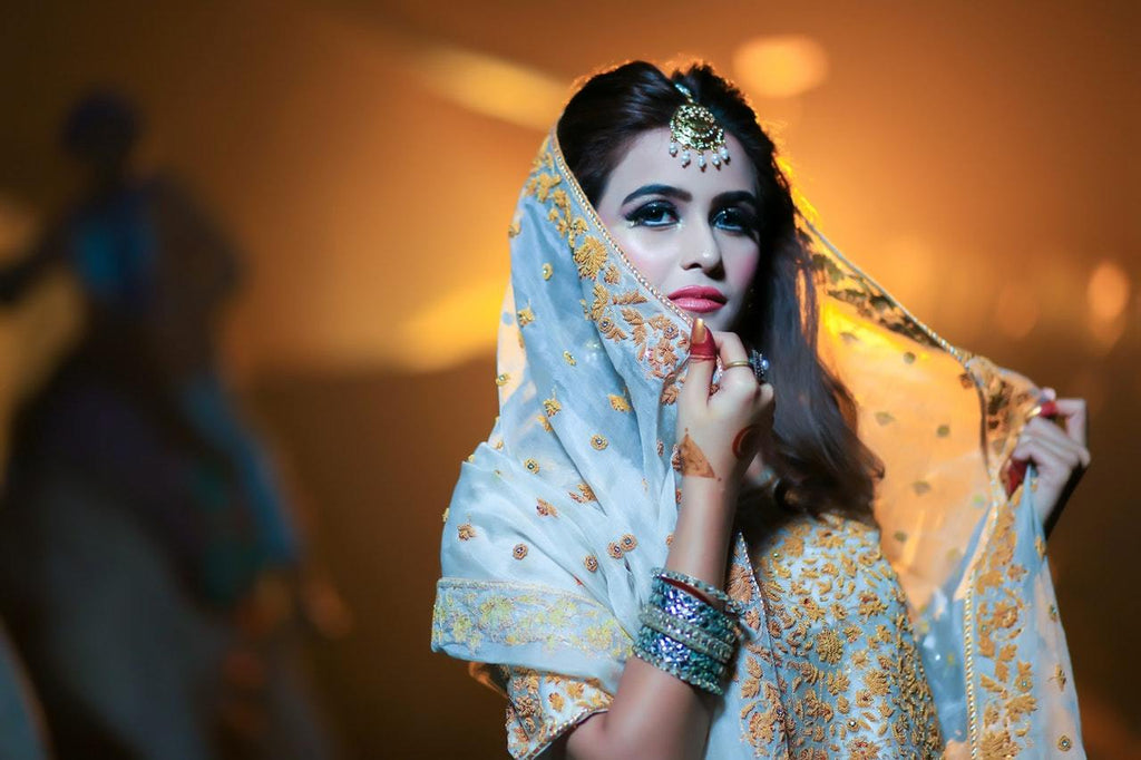 Woman dressed for karwa chauth