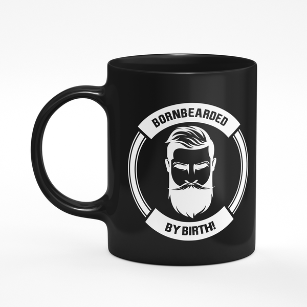 Bazarville Bornbearded Black Born Bearded Mug