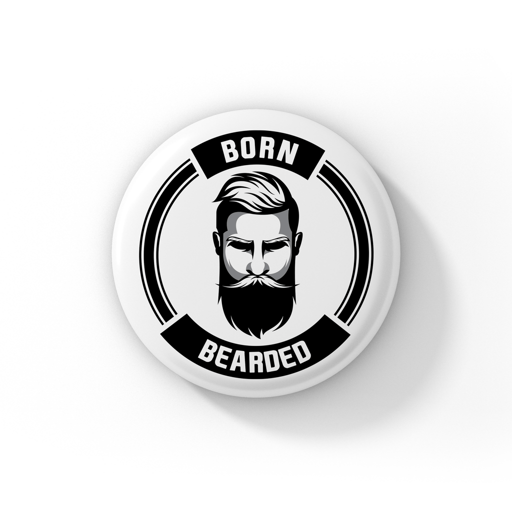 Bazarville Bornbearded BORNBEARDED Born Bearded Badge