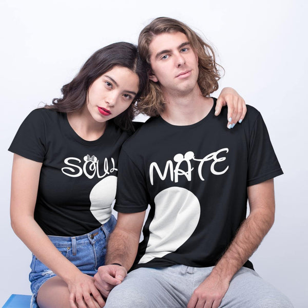 Bazarville Couple Design Black / MEN / XS Soul Mate Heart