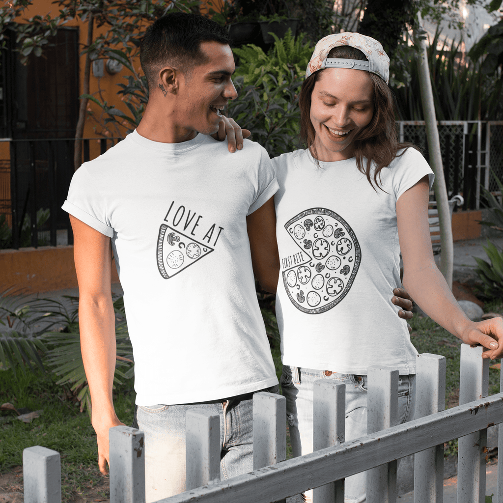 Bazarville Couple Design MEN / XS Pizza Couple  - Couple Tee