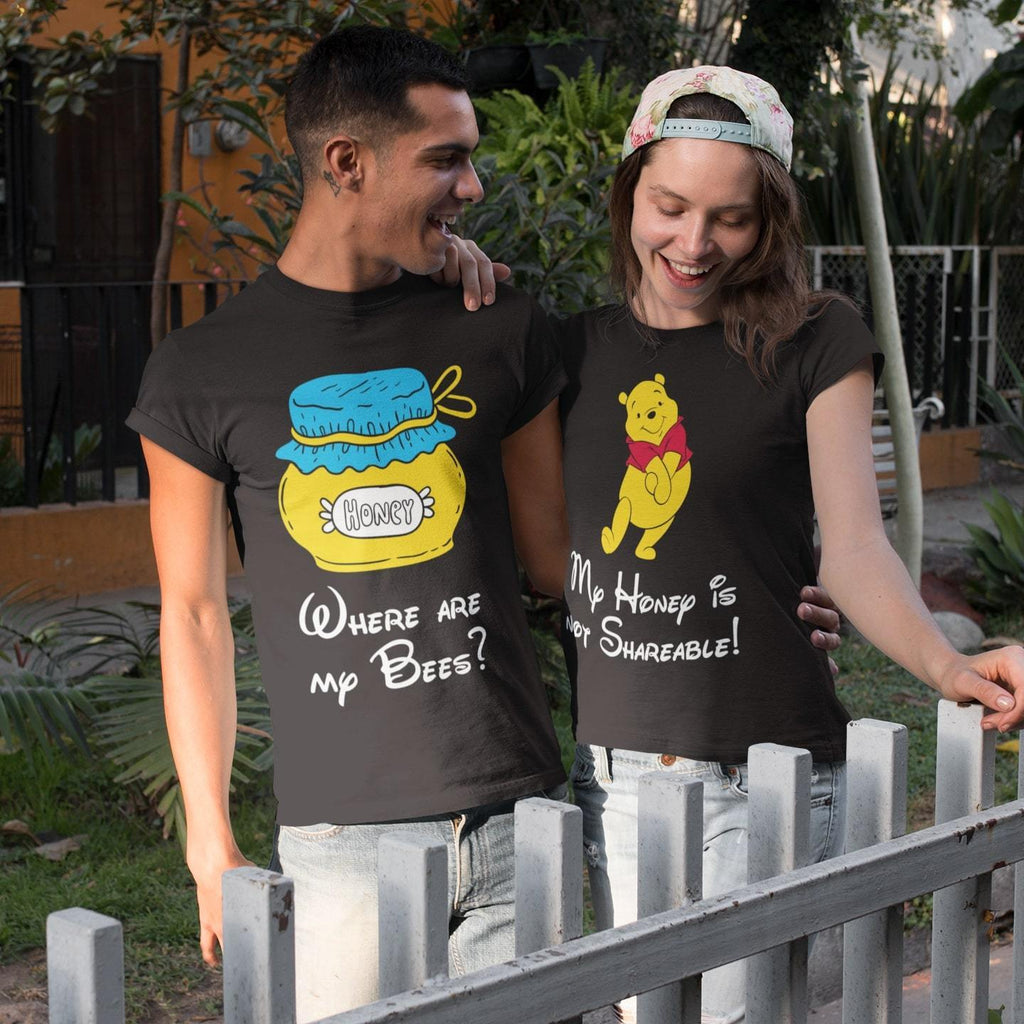 Bazarville Couple Design MEN / XS Pooh - Couple Tee