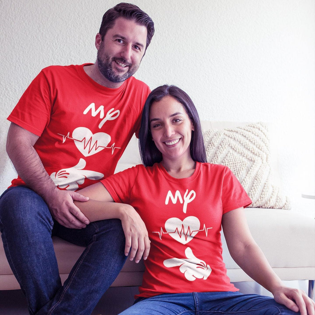 Bazarville Couple Design Red / MEN / XS Life Line - Couple Tee
