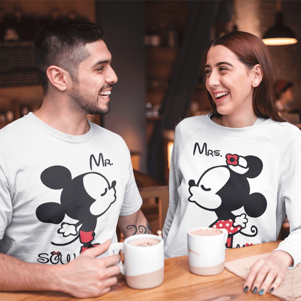 Bazarville Couple Design White / MEN / XS Mr & Mrs Soul Mate  - Couple Tee