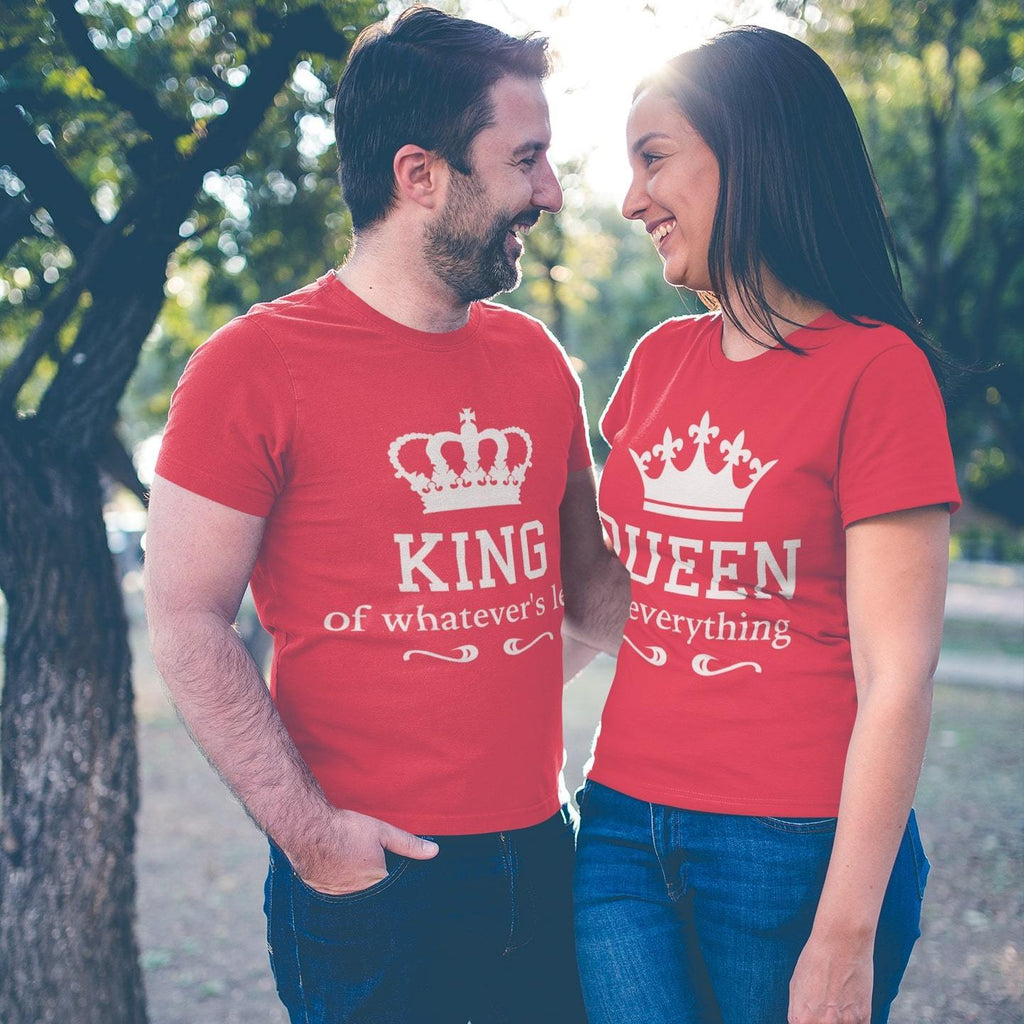 b55afdbbc1a King Queen - Couple T-shirt