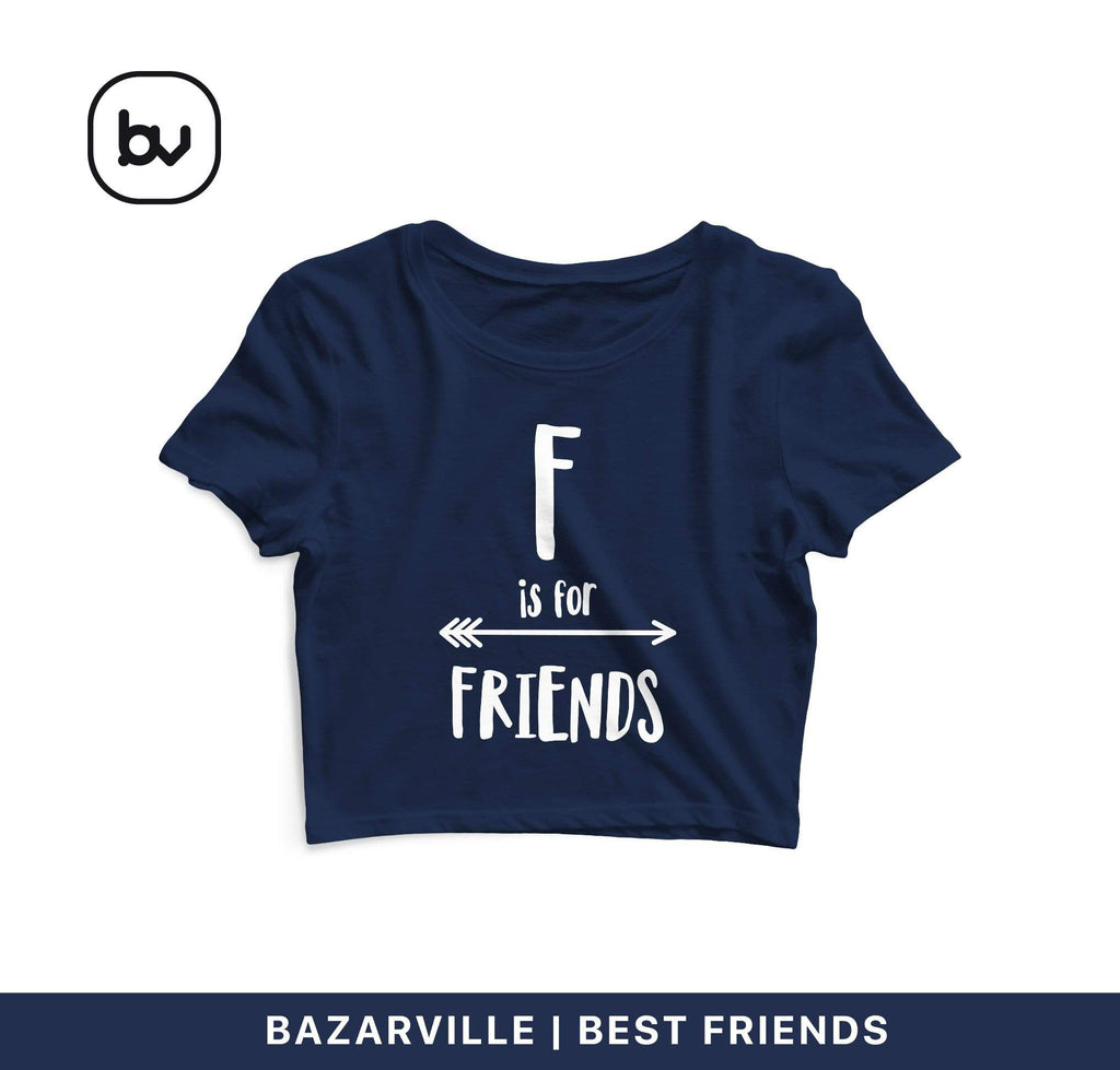 Bazarville Crop Design S / Navy F is for Friends