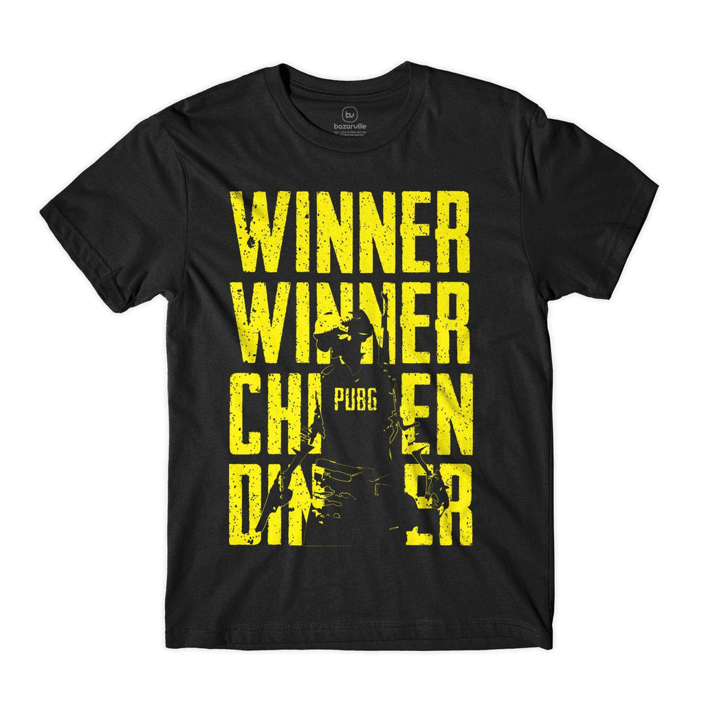 Bazarville Customer S / Black PubG - Winner Winner Chicken Dinner - Boy