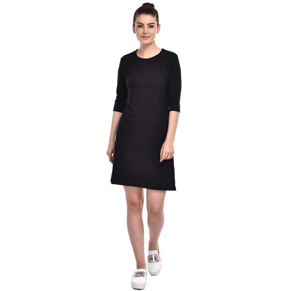 Bazarville Customer XS / 100% Cotton / Charcoal Black Bazarville Charcoal Black T-shirt Dress