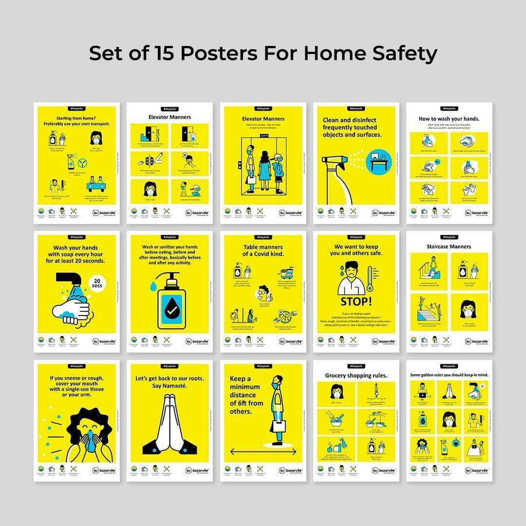 Bazarville Home Safe | Set of 15 A4 Posters