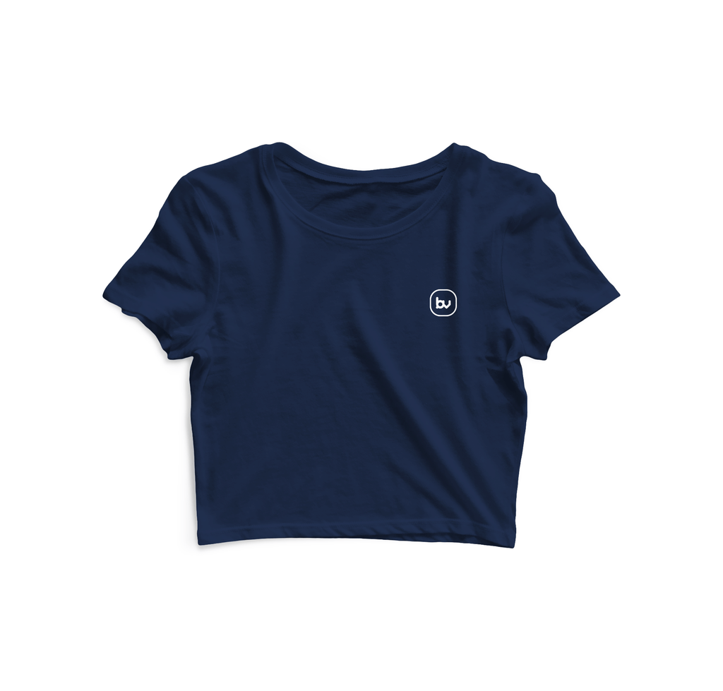 Bazarville Void CT XS Navy Blue - Crop Top