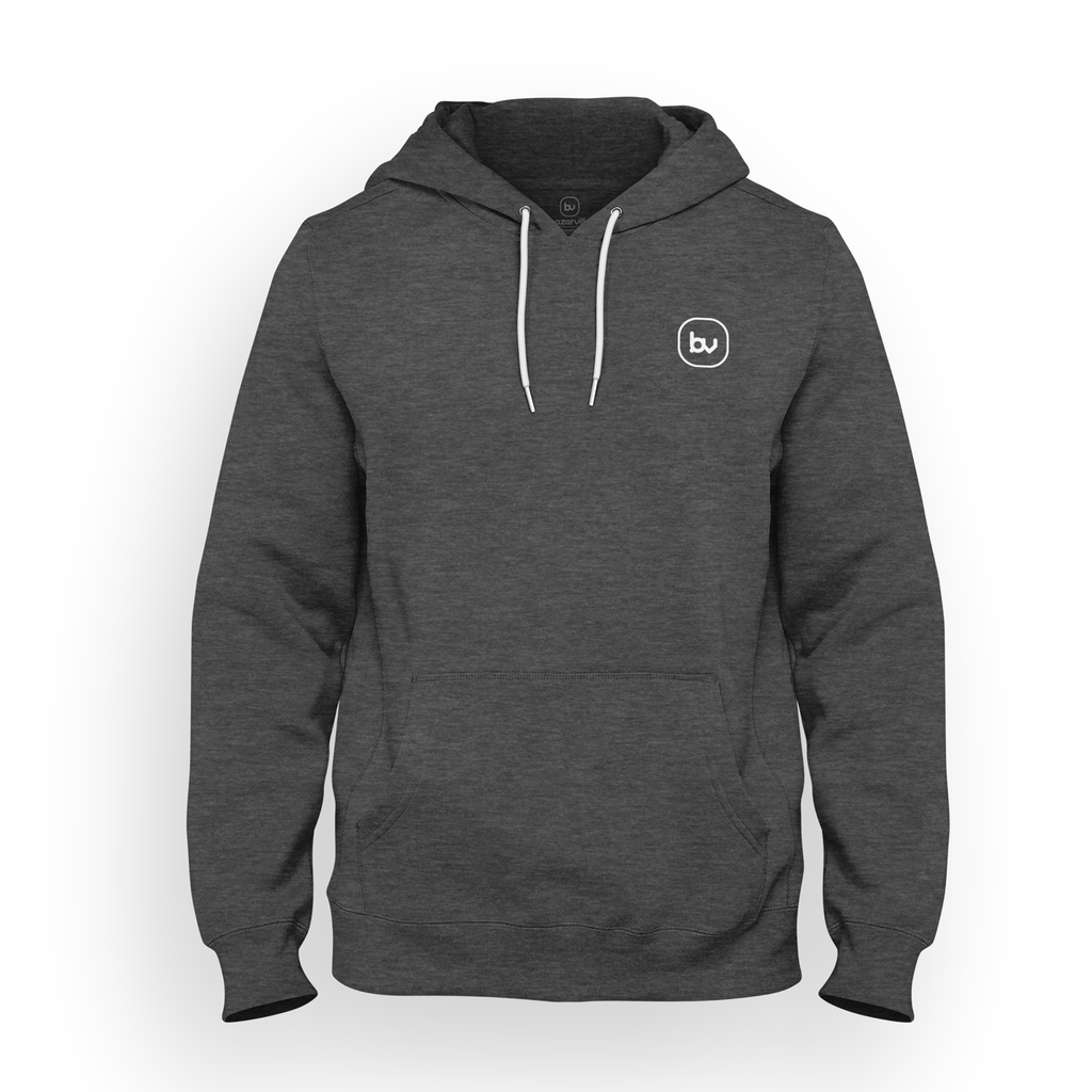 Bazarville Void HD S Hoodie - Charcoal Heather Grey