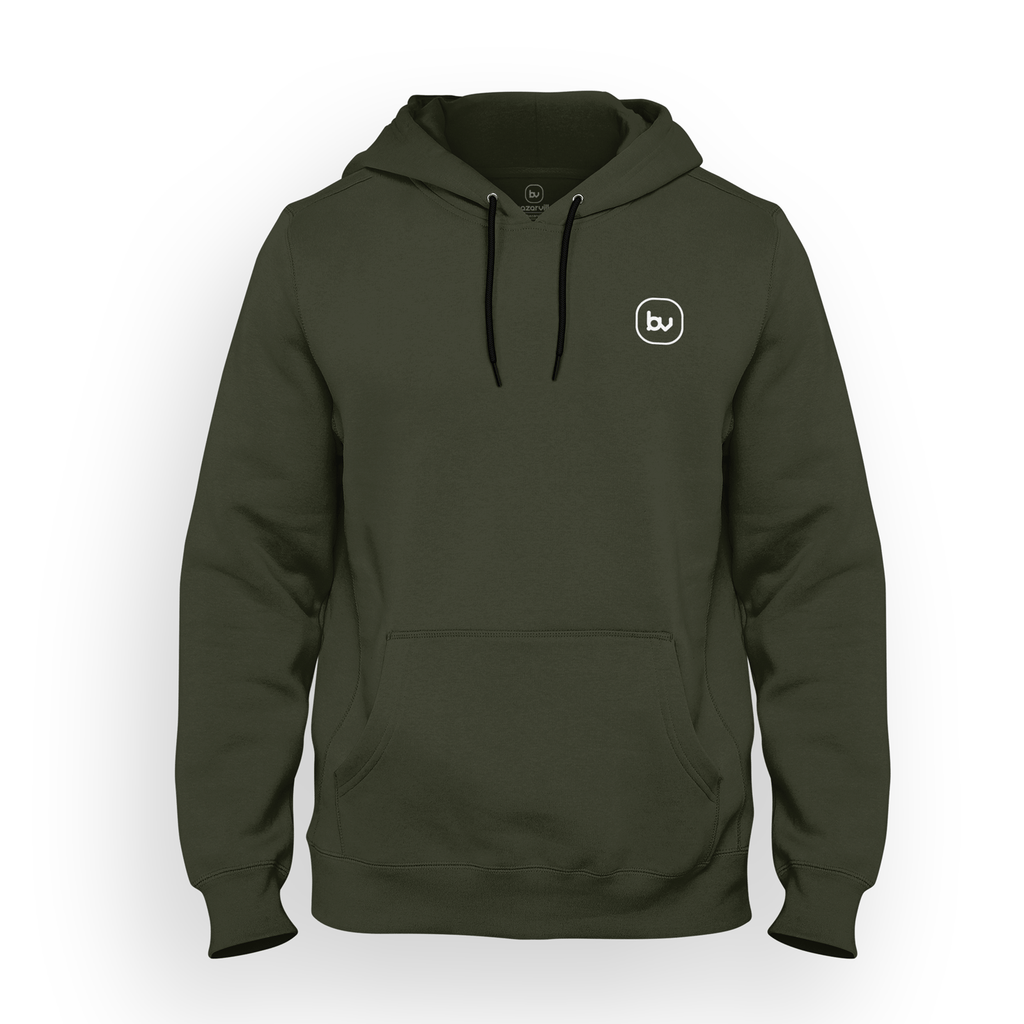 Bazarville Void HD S Hoodie - Olive Green
