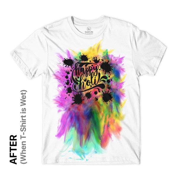 BV BV Design M / White Bleeding Tee - Holi Tshirt