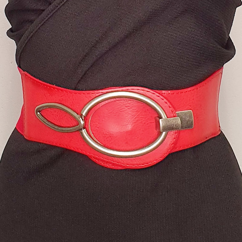 Red stretch belt