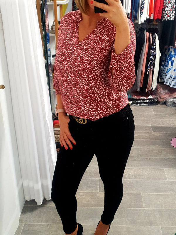 Jersey speckle top