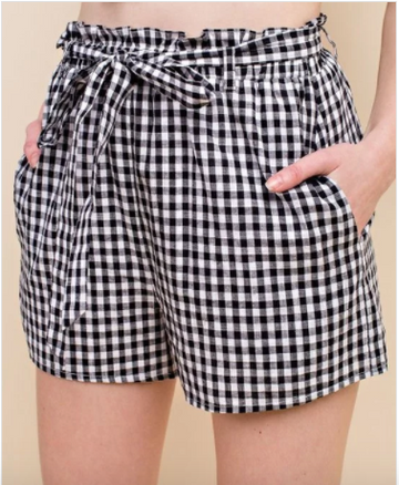 Juliette Gingham High Waisted Shorts