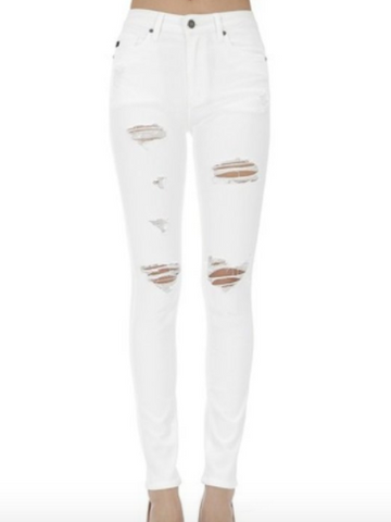 Sadie White Distressed Jeans