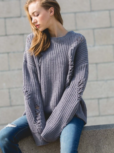 Zoe Distressed Sweater