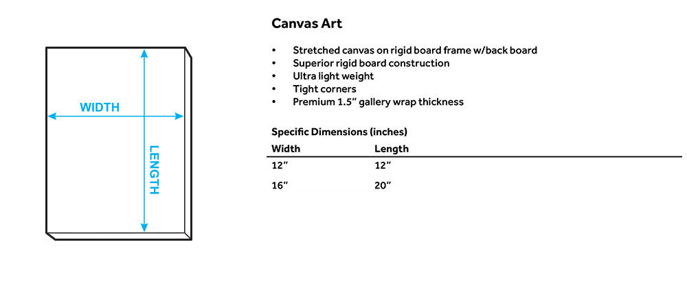 Canvas Wall Art size guide