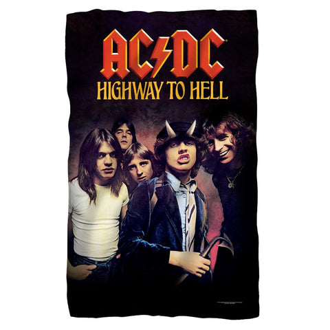 AC/DC - Highway To Hell Polar Fleece Blanket - Rock Our Tshirts