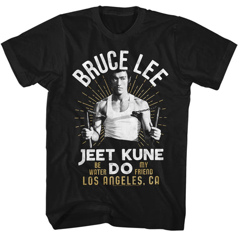 Bruce Lee - White Gold Los Angeles T-Shirt
