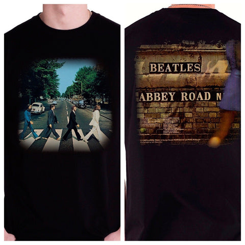 The Beatles - Abbey Road 2 Sided T-Shirt