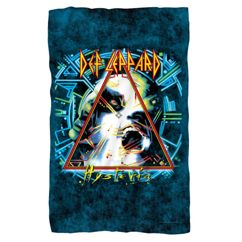 Def Leppard - Hysteria Album Cover Polar Fleece Blanket - Rock Our Tshirts