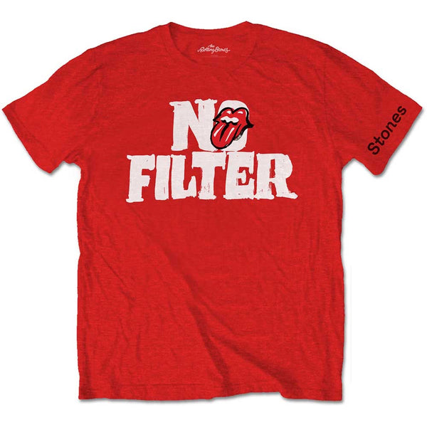 The Rolling Stones - No Filter Red Head Logo T-Shirt
