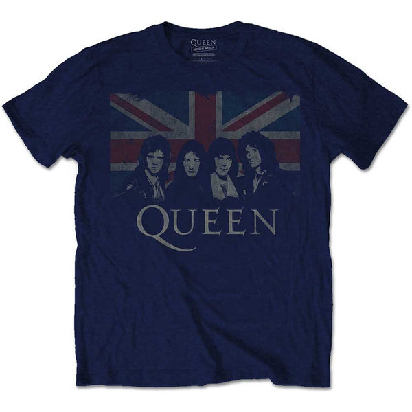 Queen -  Union Jack Band Photo T-Shirt