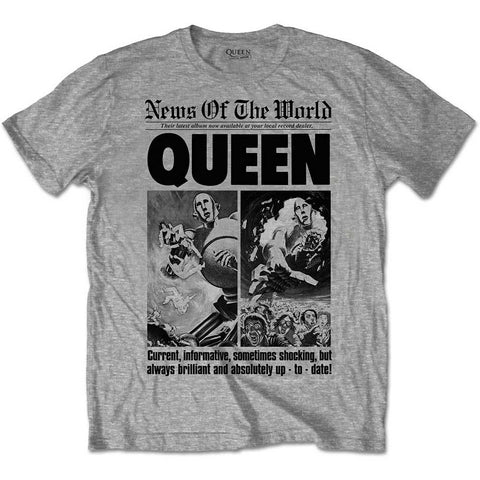 Queen - News of The World 40th Front Page T-Shirt