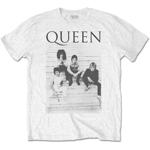 Queen - Rare Stairs Band Photo T-Shirt