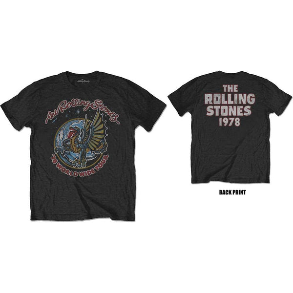 The Rolling Stones - '78 Dragon Tour Two Sided T-Shirt