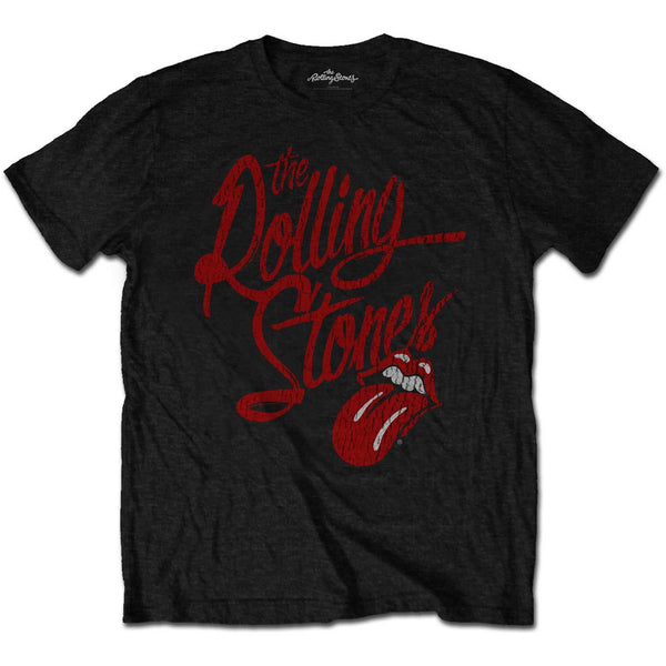 The Rolling Stones - The Script Logo T-Shirt