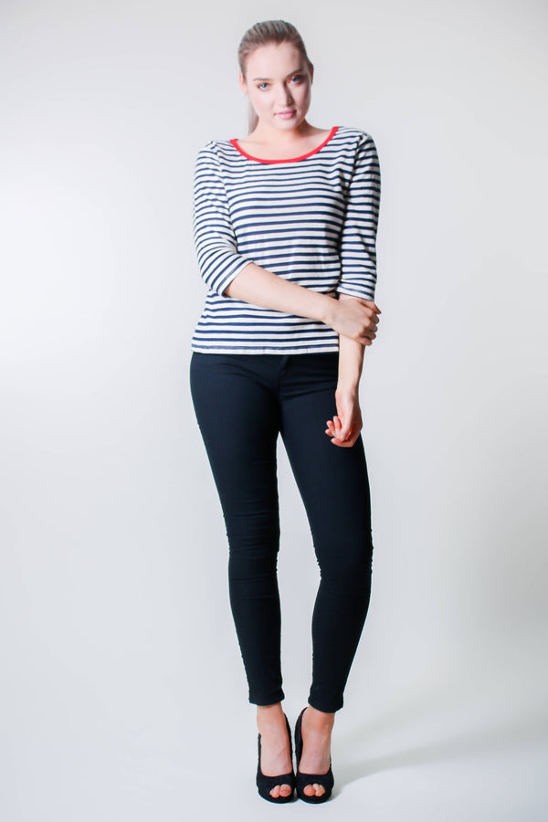 Long Sleeve Stripe - Blue