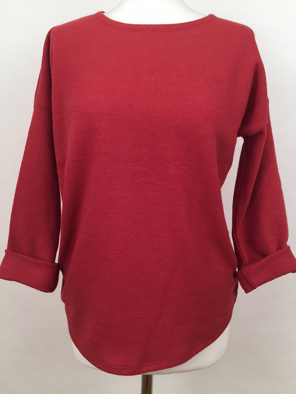 Long Sleeve Top - Bright Red
