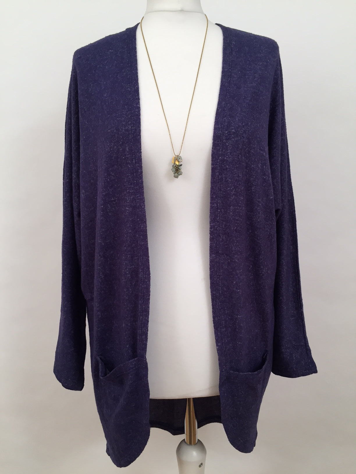 Long Cut Cardigan - Blue