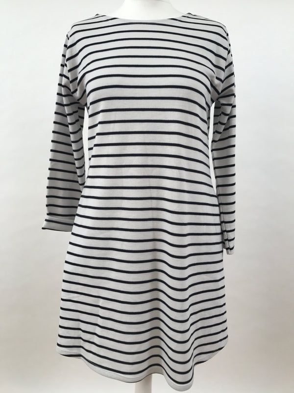 Navy Stripe Long Sleeve Dress
