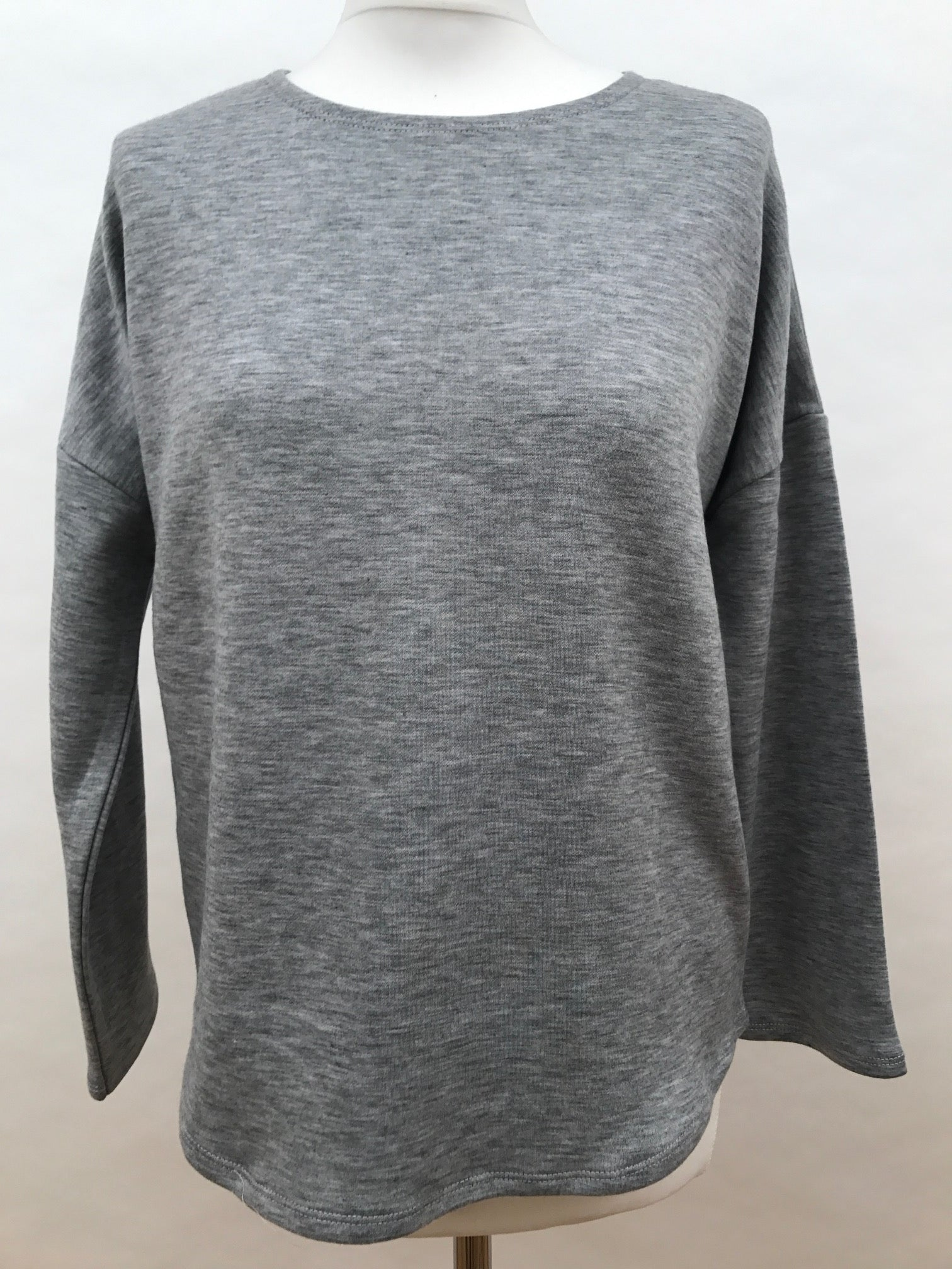 Long Sleeve Top - Plain Grey
