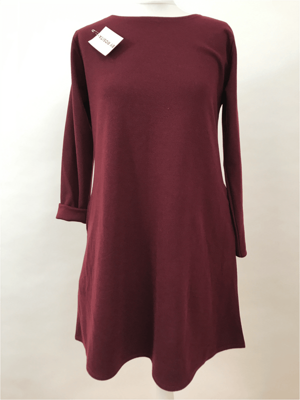 Dress Long Sleeve - Maroon