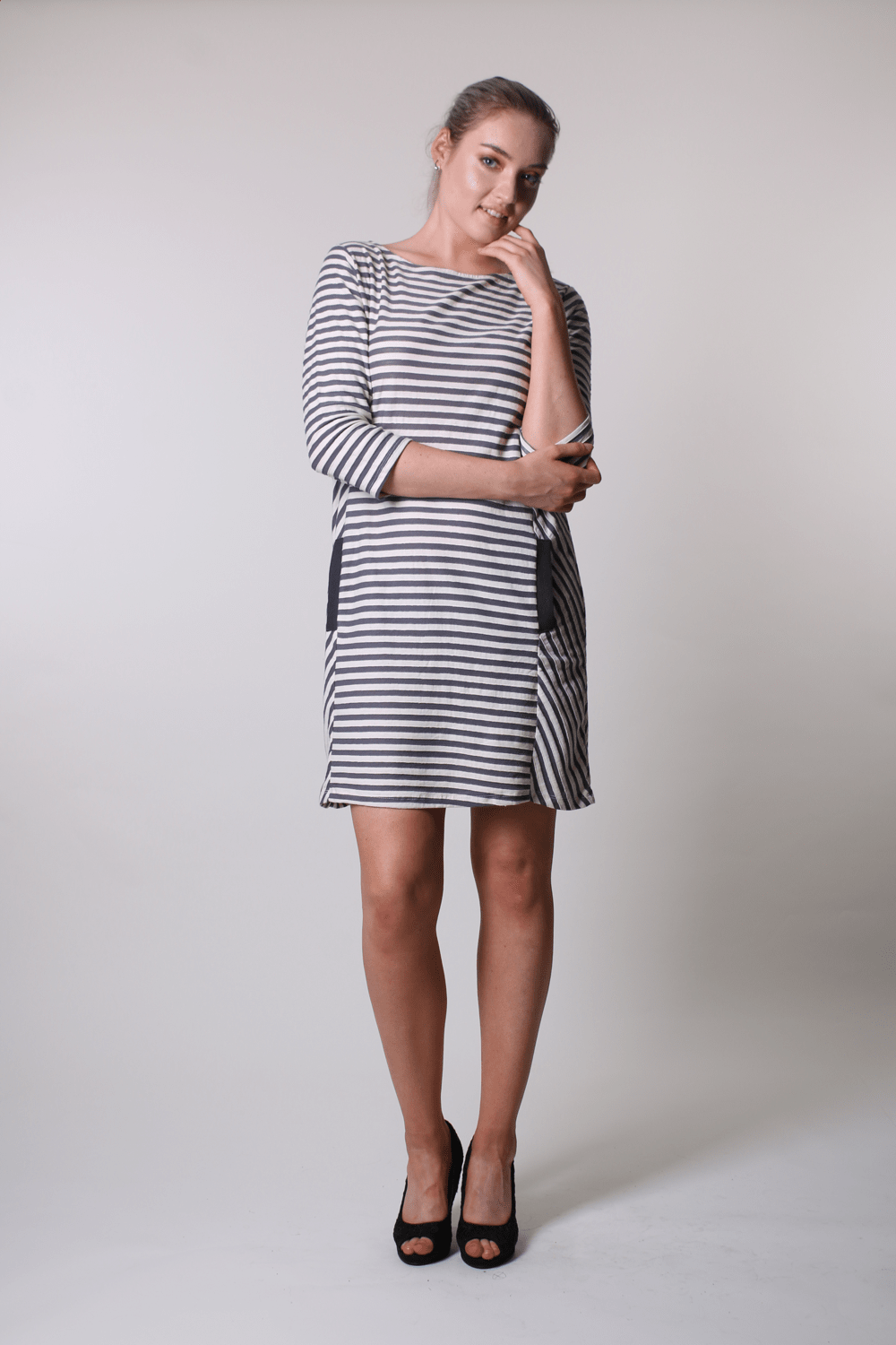 Pocket Dress Tunic - Grey