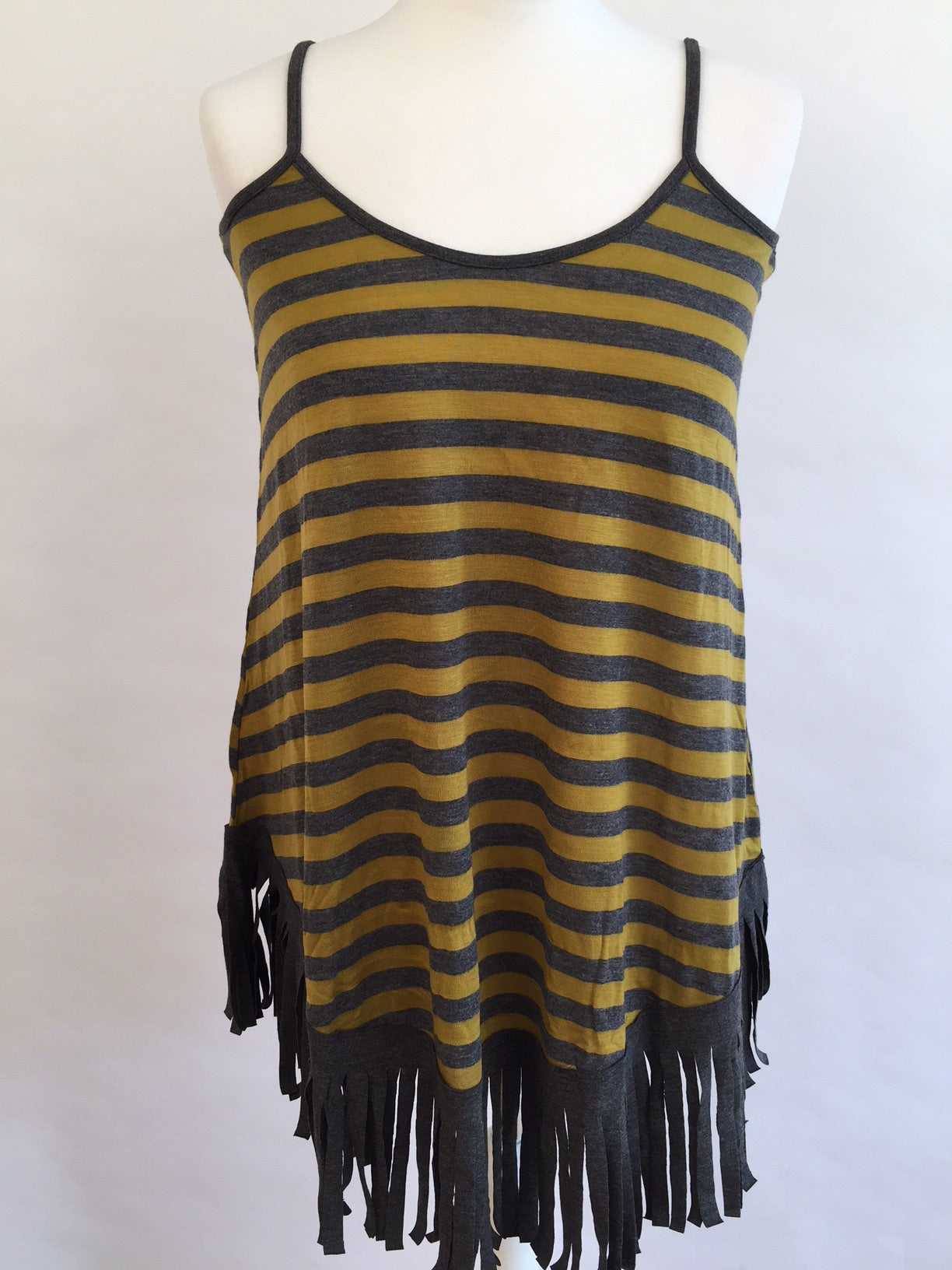 Strappy Top - Yellow and Grey