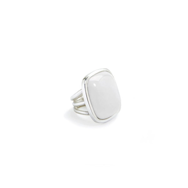White Beach ring - piece unique