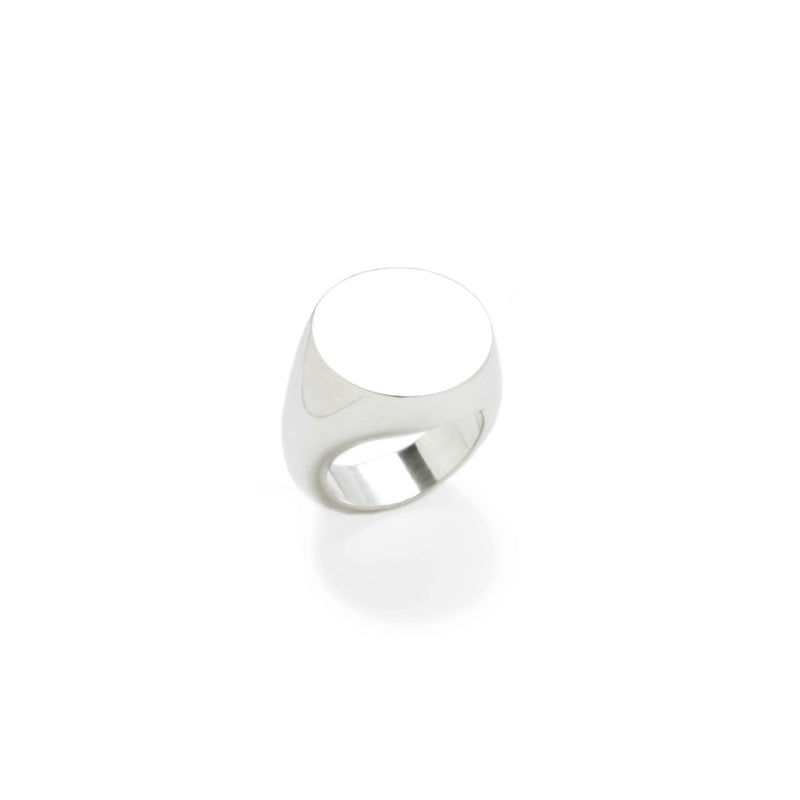 Round Signet Ring / plain or customized