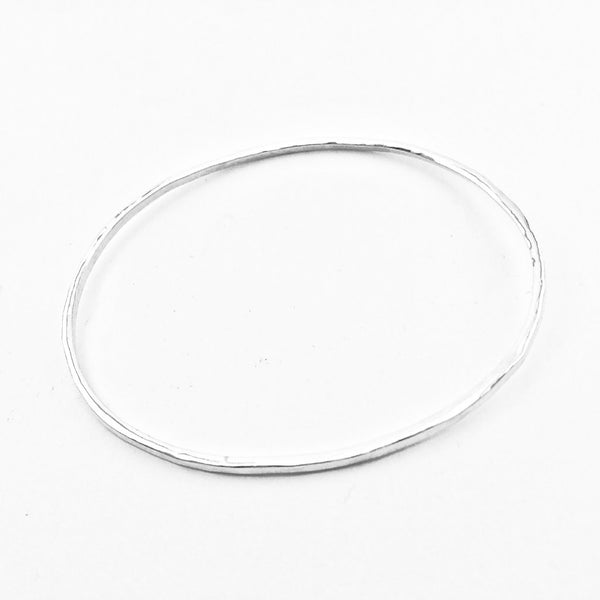 Oval Hammered Bracelet