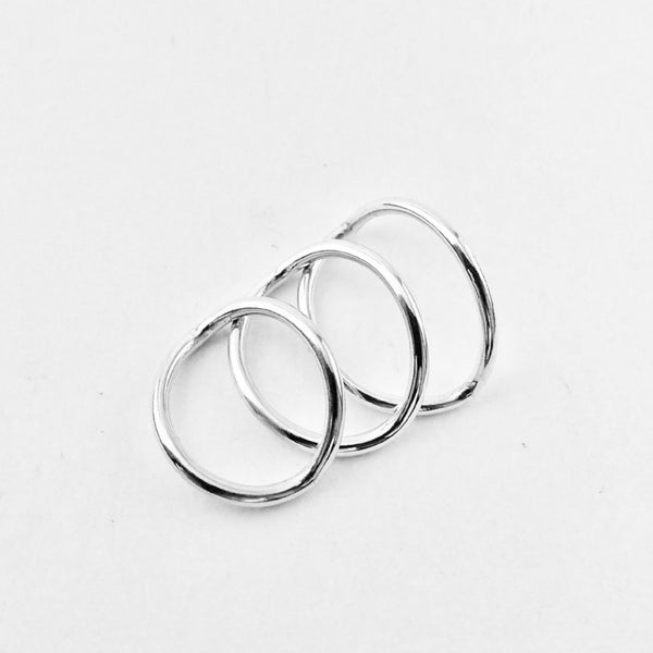 Set of three Leaf Rings