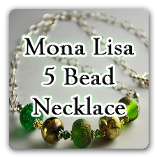 Mona Lisa 5 Bead Necklace Tutorial - Digital Download